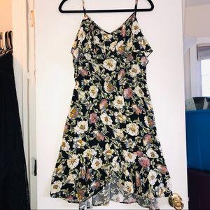 Xhilaration - floral lace-up dress